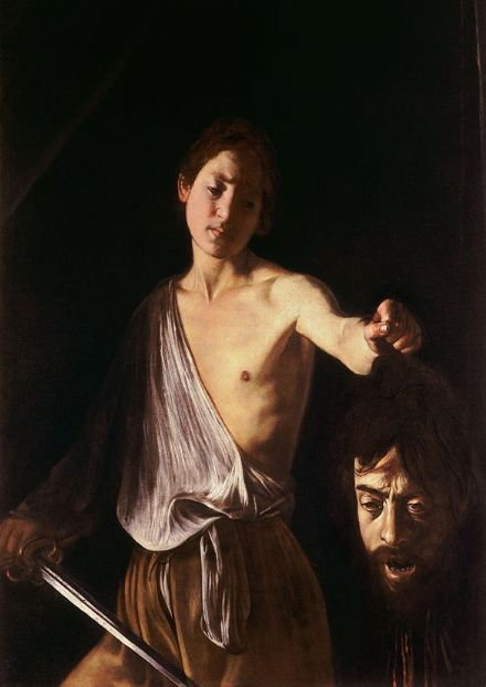 Caravaggio, Michelangelo Merisi da: David with the Head of Goliath. Fine Art Print/Poster. Sizes: A4/A3/A2/A1 (002074)